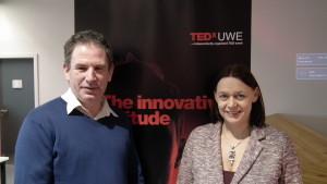 James Brown and Lindsay West at TEDx UWE